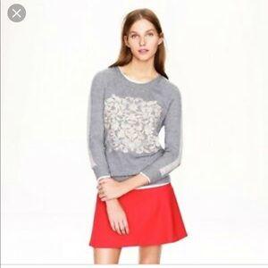 NWT J. Crew Cashmere Gray Sweater Sz M